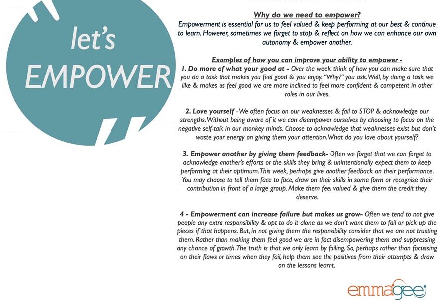 empowering others to empower yourself a